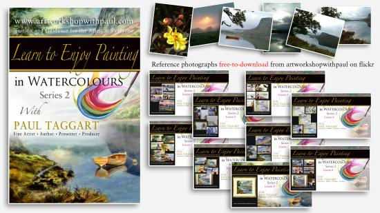 Box-set from $1 (us) per video CLICK HERE for details and Video Descriptions - [Series 2] 'Learn To Enjoy Painting  in Watercolours with Paul Taggart'