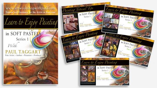 Box-Set from $1 (us) per video CLICK HERE for details and Video Descriptions - [Series 1] 'Learn to Enjoy Painting in Soft Pastels with Paul Taggart'