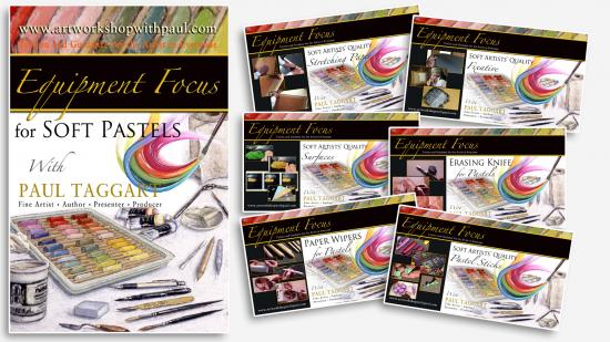 Box-set from $1 (us) per video CLICK HERE for details and Video Descriptions - 'Painting Equipment Focus for Soft Pastels with Paul Taggart'
