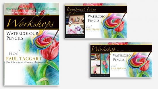 Series from $1 (us) per video - 'Painting & Drawing Workshops with Paul Taggart [Watercolour Pencils] - Build-Up Set