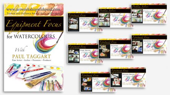 Box-Set  from $1 (us) per video CLICK HERE for details and Video Descriptions - 'Painting Equipment Focus for Watercolours with Paul Taggart'