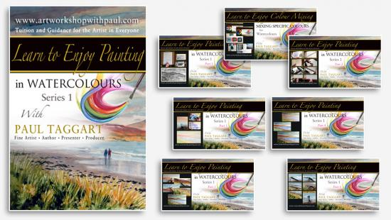 Box-Set  from $1 (us) per video CLICK HERE for details and Video Descriptions - [Series 1] 'Learn to Enjoy Painting in Watercolours with Paul Taggart'