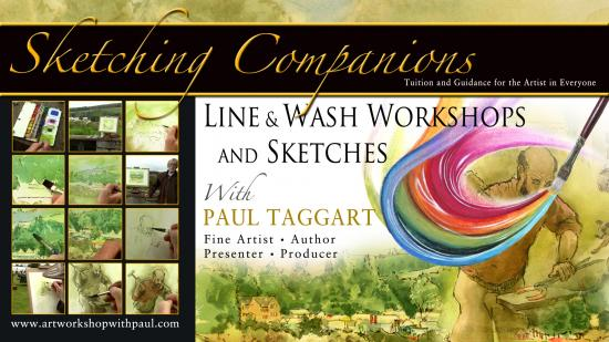 'Sketching Companions – Line & Wash Workshops and Sketches with Paul Taggart'